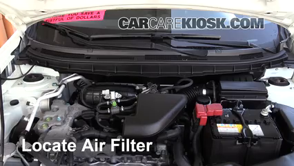 2015 Nissan Rogue Select S 2.5L 4 Cyl. Air Filter (Engine)
