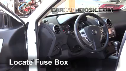 Interior Fuse Box Location: 2014-2015 Nissan Rogue Select - 2015