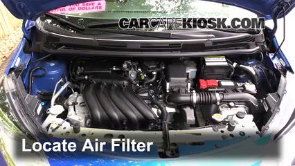Control de filtro de aire de motor Nissan Versa Note 2014 ...