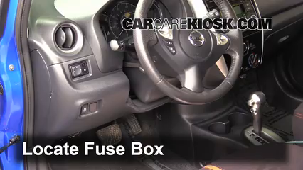 interior fuse box location 2014 2019 nissan versa note 2015 Nissan Cube Fuse Box