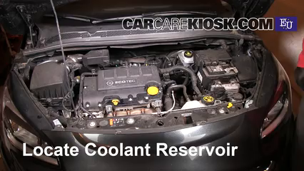 2015 opel corsa enjoy 1 4l 4 cyl  turbo coolant (antifreeze) check coolant