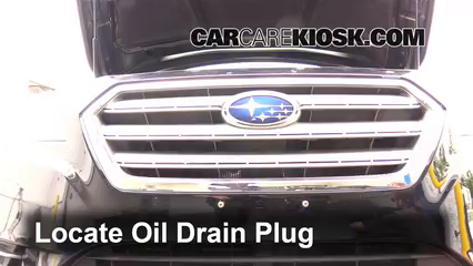 Oil & Filter Change Subaru Legacy (2015-2016) - 2015 Subaru Legacy ...