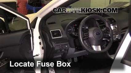 interior fuse box location 2013 2019 subaru wrx