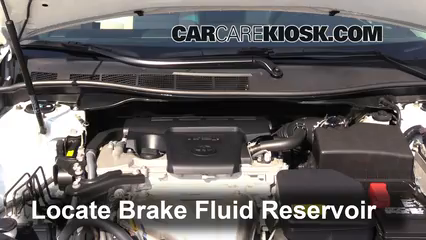 2015 Toyota Camry XLE 2.5L 4 Cyl. Brake Fluid Check Fluid Level
