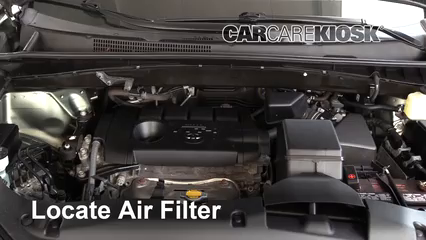 2015 Toyota Highlander LE 2.7L 4 Cyl. Air Filter (Engine) Replace
