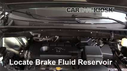 2015 Toyota Highlander LE 2.7L 4 Cyl. Brake Fluid Check Fluid Level