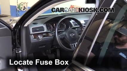 interior fuse box location 2012 2019 volkswagen passat 2015 Volkswagen Passat Dash