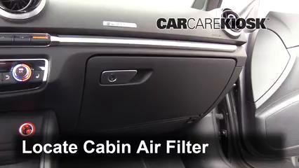 2015 Audi A3 Quattro Premium 2.0L 4 Cyl. Turbo Convertible Filtro de aire (interior) Cambio