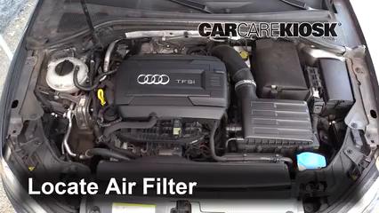 2015 Audi A3 Quattro Premium 2.0L 4 Cyl. Turbo Convertible Filtro de aire (motor) Cambio