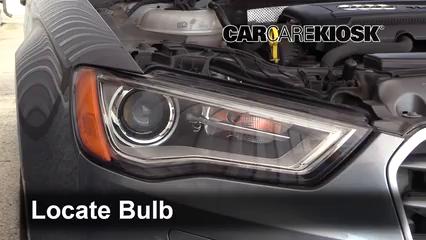 2015 Audi A3 Quattro Premium 2.0L 4 Cyl. Turbo Convertible Luces Luz de marcha diurna (reemplazar foco)
