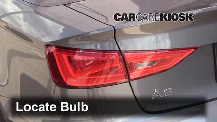 2015 Audi A3 Quattro Premium 2.0L 4 Cyl. Turbo Convertible Luces Luz trasera (reemplazar foco)