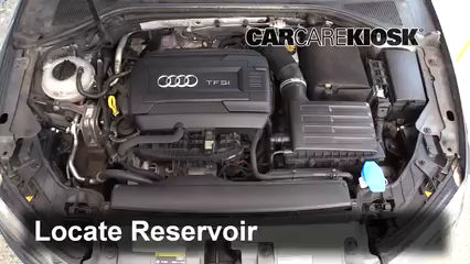 2015 Audi A3 Quattro Premium 2.0L 4 Cyl. Turbo Convertible Líquido limpiaparabrisas Controlar nivel de líquido