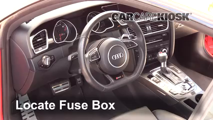 Interior Fuse Box Location: 2013-2015 Audi RS5 - 2015 Audi RS5 4.2L V8 | Audi Rs5 Fuse Box |  | CarCareKiosk