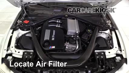 2015 BMW M4 3.0L 6 Cyl. Turbo Coupe Filtro de aire (motor)
