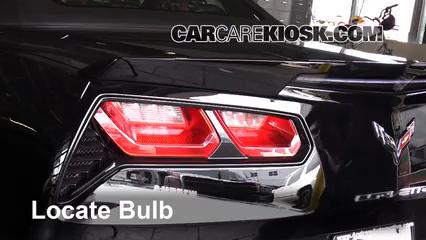 2015 Chevrolet Corvette Stingray 6.2L V8 Convertible Lights Tail Light (replace bulb)