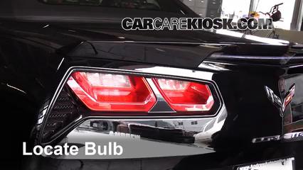 2015 Chevrolet Corvette Stingray 6.2L V8 Convertible Lights Turn Signal - Rear (replace bulb)