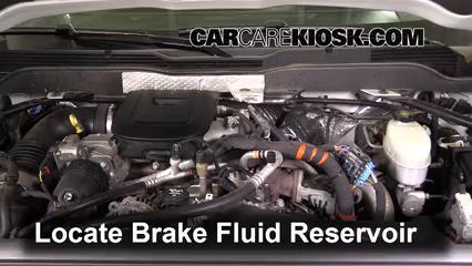 2015 Chevrolet Silverado 2500 HD LT 6.6L V8 Turbo Diesel Crew Cab Pickup Brake Fluid