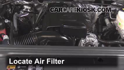 2015 GMC Sierra 2500 HD 6.0L V8 FlexFuel Extended Cab Pickup Filtre à air (moteur)
