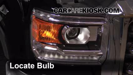 2015 GMC Sierra 2500 HD 6.0L V8 FlexFuel Extended Cab Pickup Luces Luz de estacionamiento (reemplazar foco)
