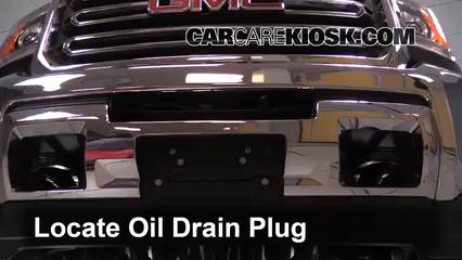 2015 GMC Sierra 2500 HD 6.0L V8 FlexFuel Extended Cab Pickup Aceite Cambiar aceite y filtro de aceite