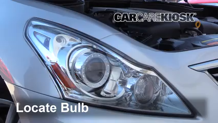 2015 Infiniti Q40 3.7L V6 Lights Headlight (replace bulb)