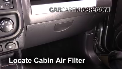 2015 Jeep Compass Sport 2.0L 4 Cyl. Air Filter (Cabin) Replace