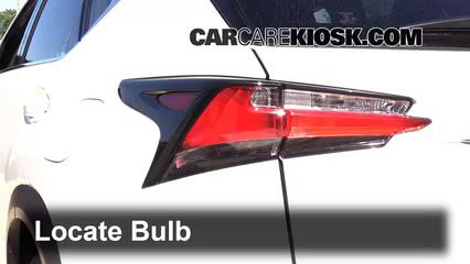 2015 Lexus NX200t 2.0L 4 Cyl. Turbo Luces Luz de reversa (reemplazar foco)