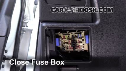 Interior Fuse Box Location: 2014-2015 Nissan Rogue Select - 2015 Nissan  Rogue Select S 2.5L 4 Cyl. | 2014 Nissan Rogue Fuse Box Location |  | CarCareKiosk