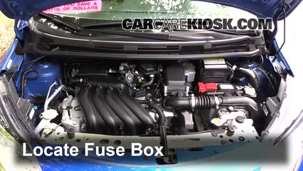 Replace a Fuse: 2014-2019 Nissan Versa Note - 2015 Nissan Versa Note S 1.6L  4 Cyl. | 2014 Nissan Versa Fuse Box Location |  | CarCareKiosk