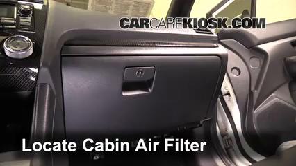 2015 Subaru WRX Limited 2.0L 4 Cyl. Turbo Filtro de aire (interior)