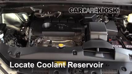 2015 Toyota Highlander LE 2.7L 4 Cyl. Refrigerante (anticongelante) Controlar nivel de líquido