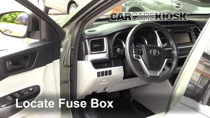 Interior Fuse Box Location: 2014-2019 Toyota Highlander - 2015 Toyota  Highlander LE 2.7L 4 Cyl. | 2014 Toyota Highlander Fuse Diagram |  | CarCareKiosk