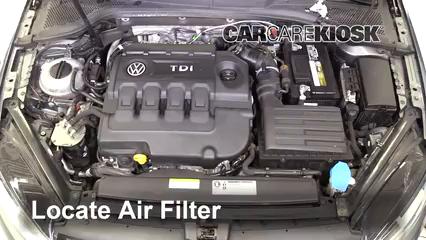 2015 Volkswagen Golf SportWagen TDI S 2.0L 4 Cyl. Turbo Diesel Filtro de aire (motor)
