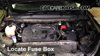 Remove Cover Locate Engine Fuse Box And Remove Cover