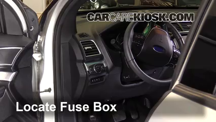 Interior Fuse Box Location: 2011-2019 Ford Explorer - 2016 Ford Explorer  Limited 2.3L 4 Cyl. TurboCarCareKiosk