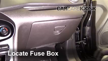 Interior Fuse Box Location: 2011-2019 Ford Fiesta - 2016 Ford Fiesta ST  1.6L 4 Cyl. TurboCarCareKiosk