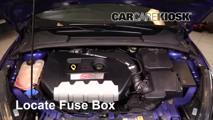 Replace a Fuse: 2012-2017 Ford Focus - 2016 Ford Focus ST 2.0L 4 Cyl on ford focus tail light bulb, ford focus flasher location, ford focus ac relay, ford focus fan belt, ford focus alternator fuse, ford focus brake light fuse, ford fuse box diagram, ford explorer fuse box, ford focus condenser, ford focus body diagram, ford focus cruise control fuse, ford focus blower resistor, ford focus alternator belt, ford maverick fuse box, ford focus fuse panel chart, 2001 ford fuse box, ford bronco fuse box, ford focus obd location, ford focus ac fuse, ford focus pedal assembly,