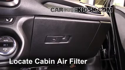 2  remove filter how to access the old cabin air filter