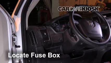 Interior Fuse Box Location: 2014-2019 Ram ProMaster 1500 - 2016 Ram  ProMaster 1500 3.6L V6 FlexFuel