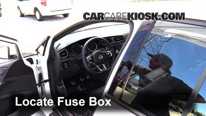 Interior Fuse Box Location: 2015-2019 Volkswagen GTI - 2016 ... on vw polo engine, vw beetle fuse box diagram, vw eos fuse box, vw jetta fuse box diagram, vw golf fuse box, vw polo horn, vw polo steering column, vw tiguan fuse box, vw touareg fuse box, vw passat fuse box, vw polo tail light, vw polo tie rod, vw bus fuse box, vw rabbit fuse box,
