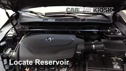 2016 Acura TLX SH-AWD 3.5L V6 Líquido limpiaparabrisas Agregar líquido