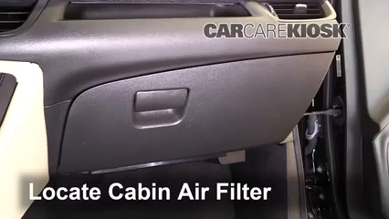 2016 Buick Envision Premium 2.0L 4 Cyl. Turbo Filtro de aire (interior)