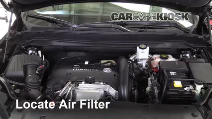 2016 Buick Envision Premium 2.0L 4 Cyl. Turbo Filtro de aire (motor)