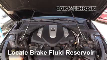 2016 Cadillac CT6 Premium Luxury 3.0L V6 Turbo Líquido de frenos Controlar nivel de líquido