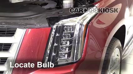 2016 Cadillac Escalade ESV Luxury 6.2L V8 FlexFuel Lights Highbeam (replace bulb)