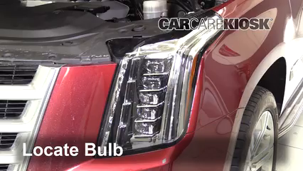 2016 Cadillac Escalade ESV Luxury 6.2L V8 FlexFuel Lights Parking Light (replace bulb)