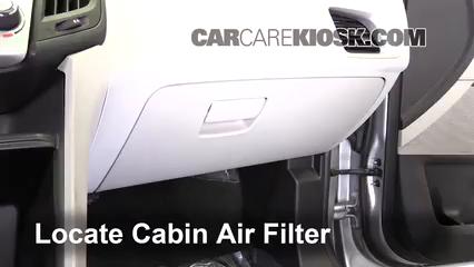 2016 Chevrolet Equinox LT 2.4L 4 Cyl. Filtro de aire (interior)