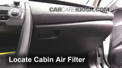 2016 Honda Civic LX 2.0L 4 Cyl. Sedan Filtre à air (intérieur)