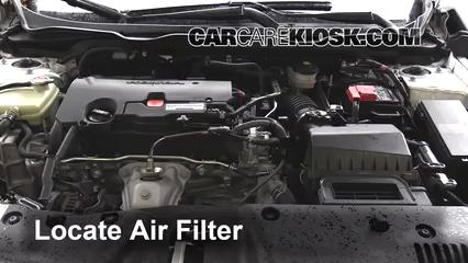 2016 Honda Civic LX 2.0L 4 Cyl. Sedan Filtre à air (moteur)