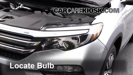 2016 Honda Pilot EX 3.5L V6 Luces Luz de carretera (reemplazar foco)